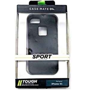 Case Mate Black Tough Hardshell Case Cover for iPh